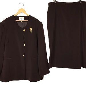 NWT Nordstrom Nina Massini formal skirt suit